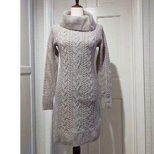 Ann Taylor LOFT Cowl Neck Knit Sweater Dress